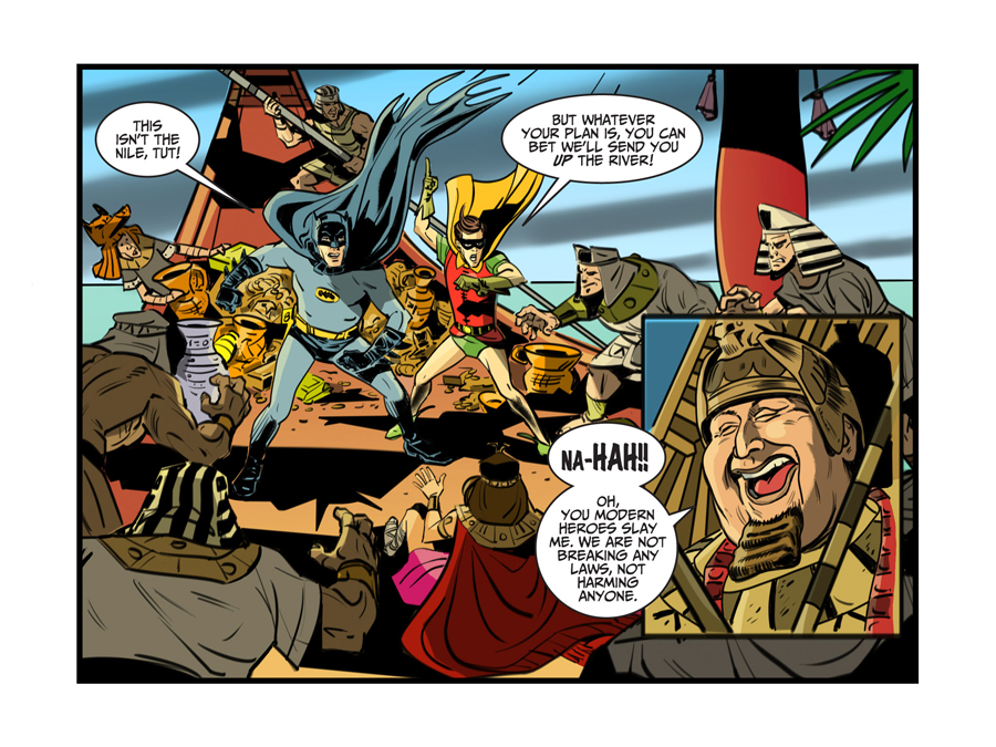 King Tut storyline was in the digital-first issues #22-23. It will appear in the print issue #8 next month.