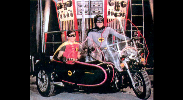 batman 1966 early batcycle robin adam west burt ward abc tv dc comics silver age
