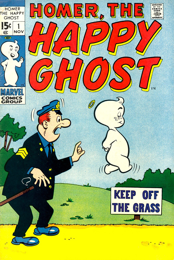 Cover of Homer, The Happy Ghost #1 (November 1969), art by Dan DeCarlo