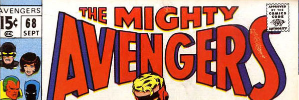 Masthead of Avengers #68 (September 1969) featuring Curtis Circulation logo