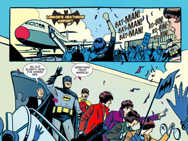 Batman '66 #10 (2013), script by Jeff Parker, art by Jonathan Case