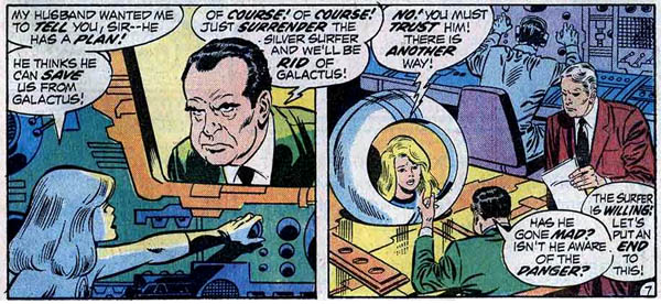 Fantastic Four #123 (Marvel, 1972), script by Stan Lee, art by John Buscema and Joe Sinnott
