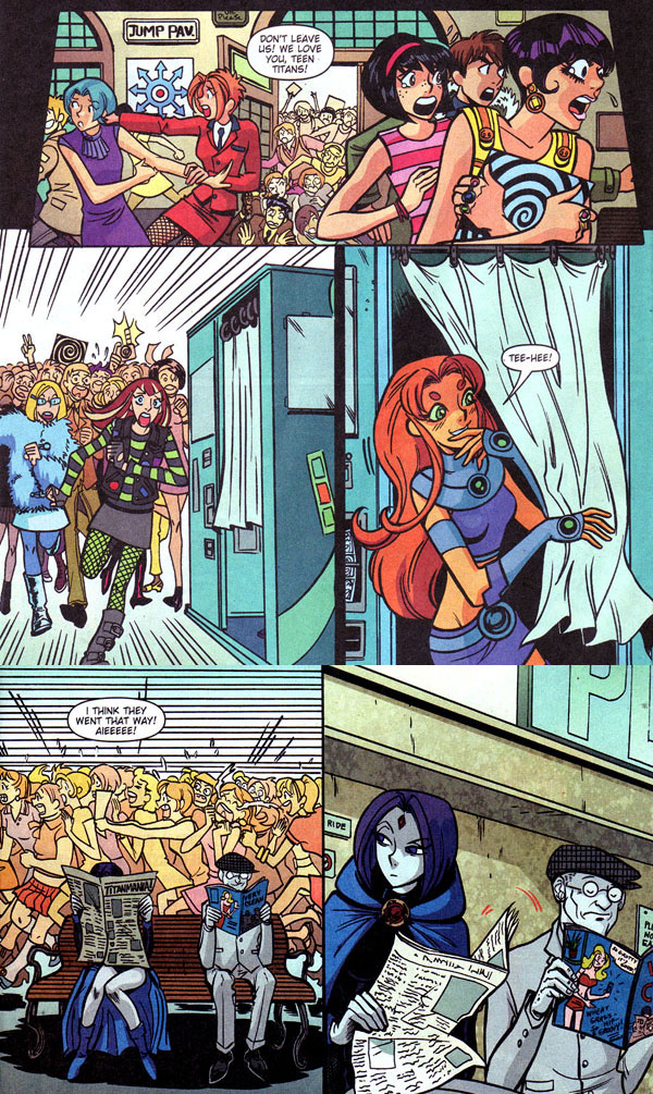 Teen Titans Go! #38 (2007), script by J. Torres, art by Chynna Clugston