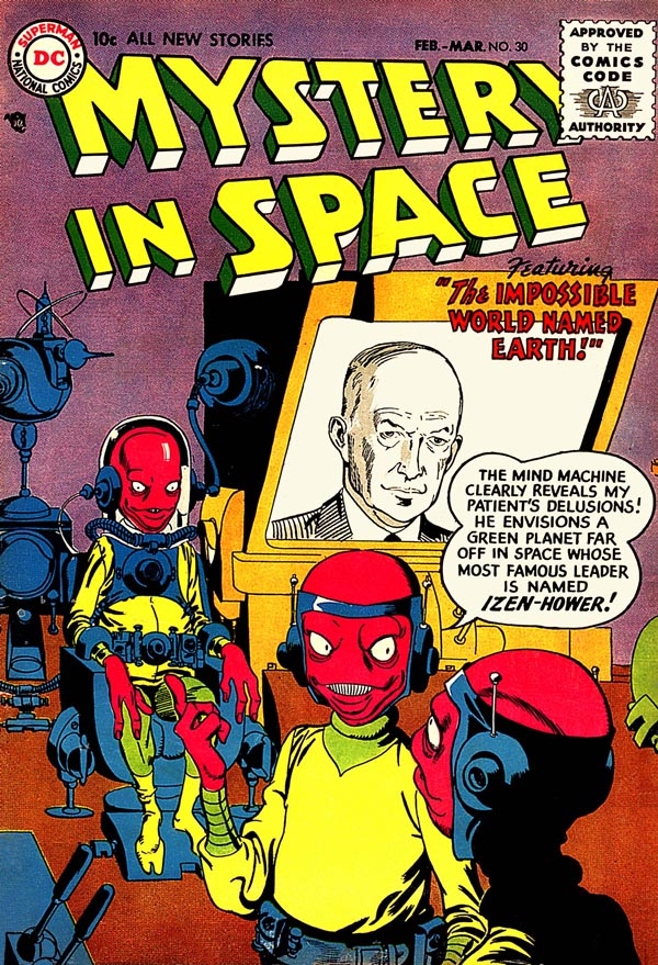Mystery in Space #30  (DC, 1956), art by Gil Kane