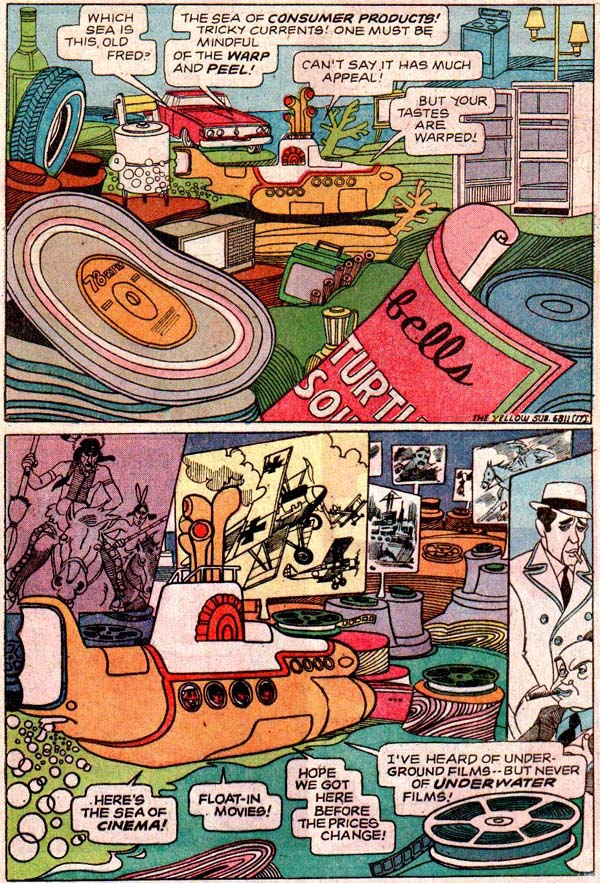 Yellow Submarine one-shot (Gold Key, 1968), script by Paul S.  Newman, art by José Delbo