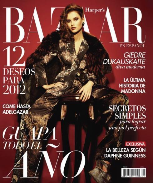 Her cover for Harper's Bazaar Latino America