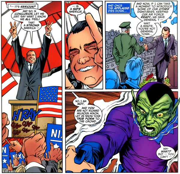 Avengers Forever #5 (Marvel, 1999), script by Roger Stern and Kurt Busiek, art by Carlos Pacheco and Jesus Merino