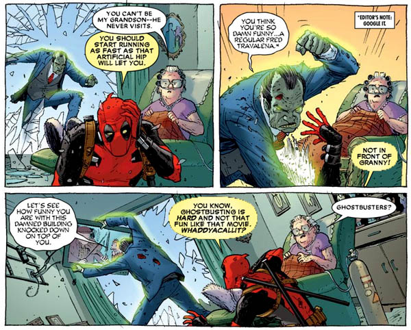 Deadpool #3 (Marvel, 2013), script by Gerry Duggan and Brian Posehn, art by Tony Moore