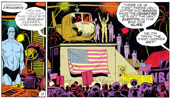 Watchmen #2 (DC, 1986), script by Alan Moore, art by Dave Gibbons