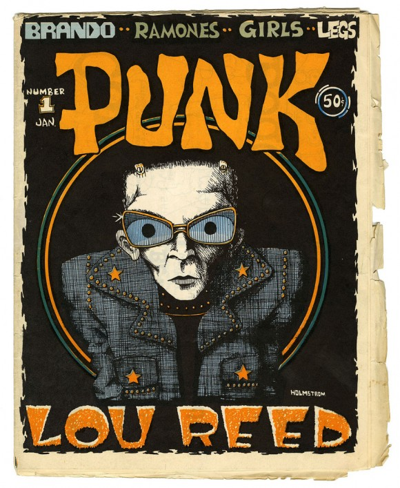 Actual printed cover of PUNK Magazine.