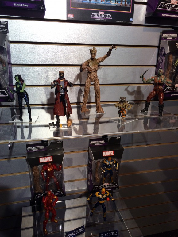 A buncha Guardians of the Galaxy! Due in July.