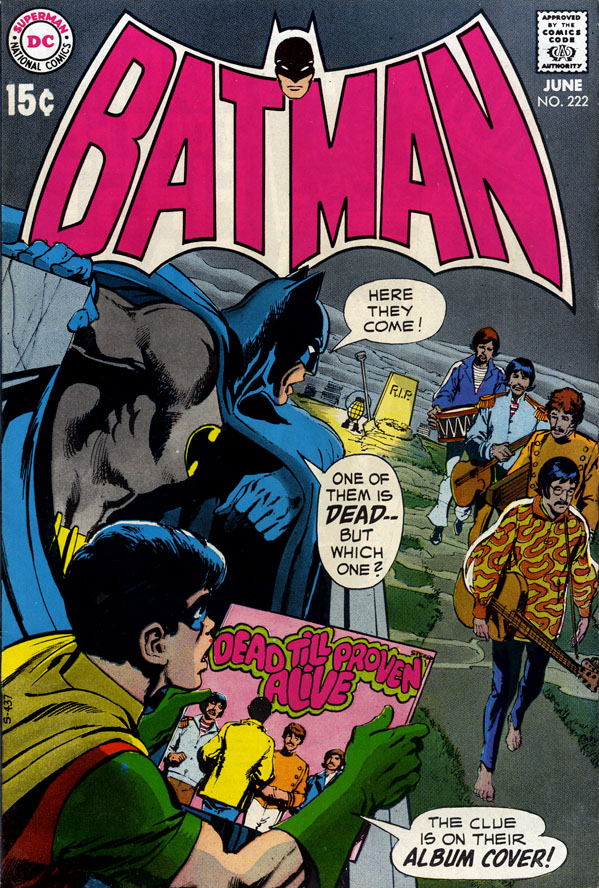 Cover of Batman #222 (June 1970), art by Neal Adams