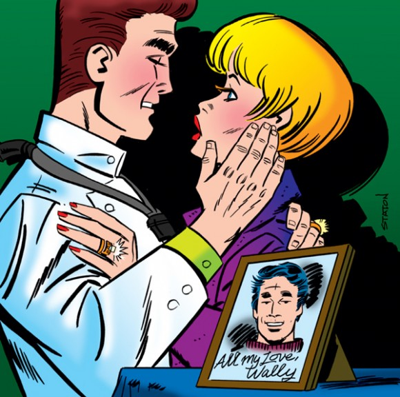 "Detail of Joe Staton's piece, ""Career Girl Romances,"" written by Larry Wilson."