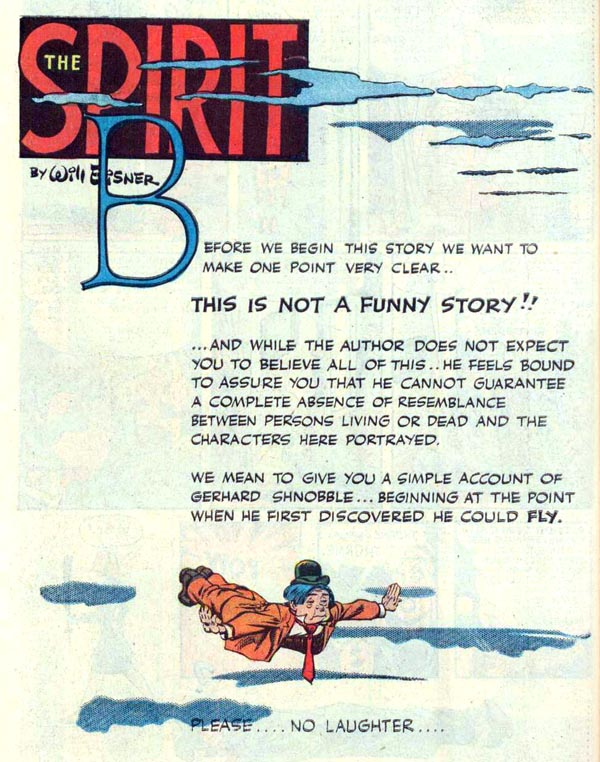 """Gerhard Schnobble"" (September 5, 1948), script and art by Will Eisner"
