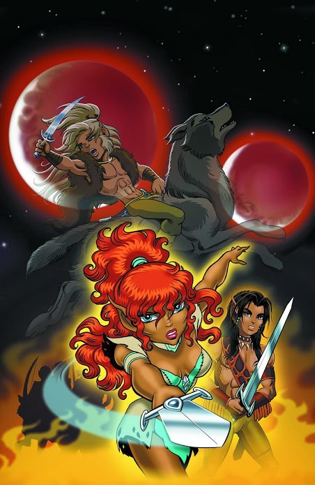 Ember, the fearless daughter of Cutter, clearly a nod to Wendy's Red Sonja salad days.