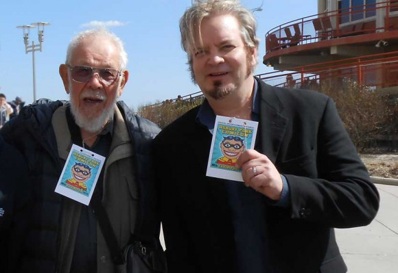 Al Jaffee with Cliff Galbraith, Asbury Park Promoter and Publisher of 13th Dimension