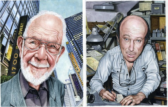 Al Jaffee and Harvey Kurtzman by Drew Friedman