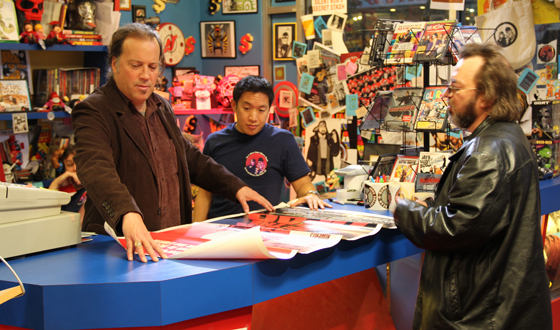 "Rob with Ming on ""Comic Book Men."""