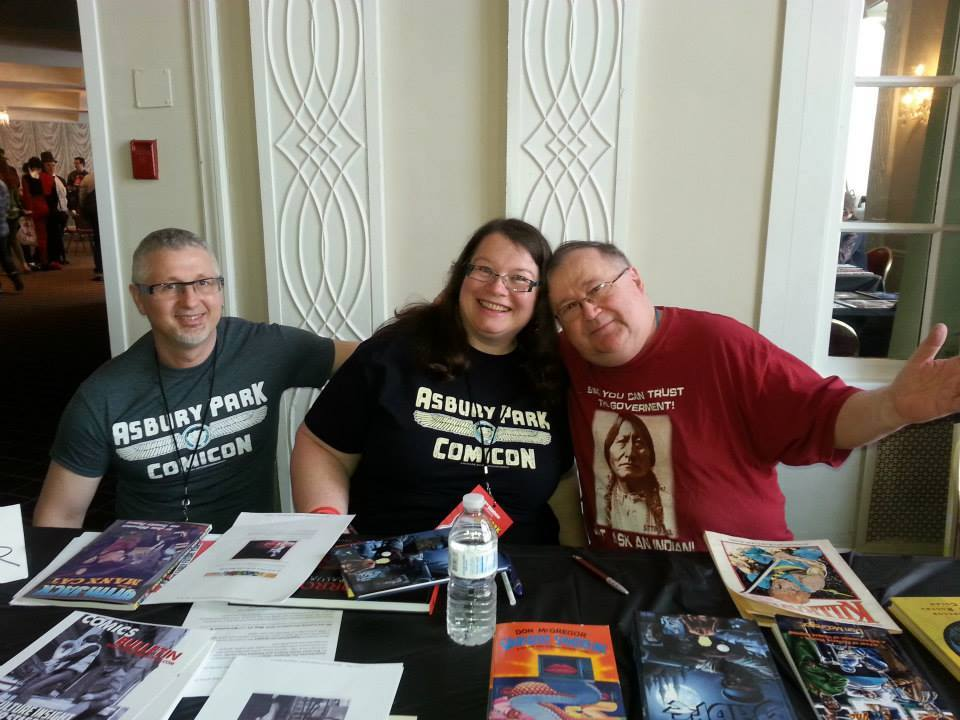 Donald Lanouette, Karen Opas Lanouette and Don McGregor at Asbury Park Comicon.
