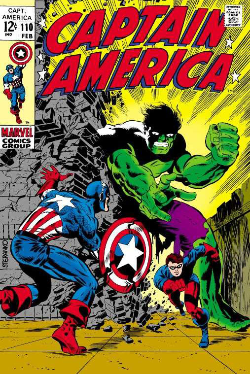Captain America #110 (1969), art and colors by Jim Steranko