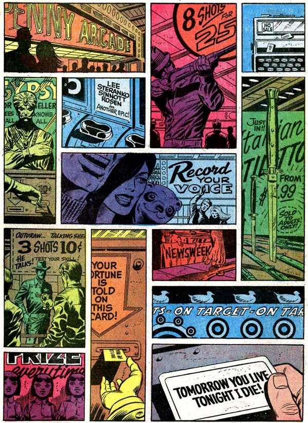 Captain America #111 (1969), script by Stan Lee, pencils and colors by Jim Steranko, inks by Joe Sinnott