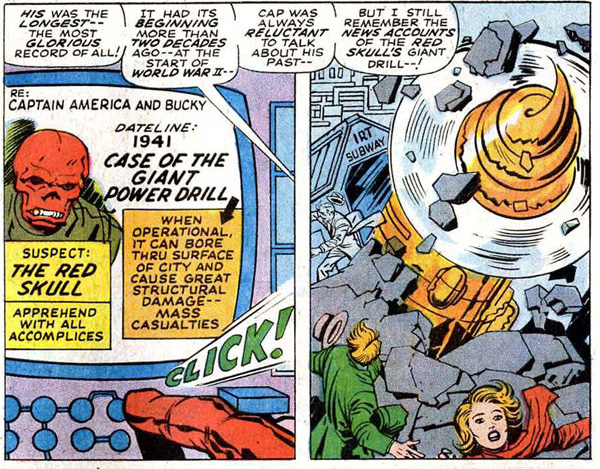 Captain America #112 (1969), script by Stan Lee, pencils by Jack Kirby, inks by George Tuska