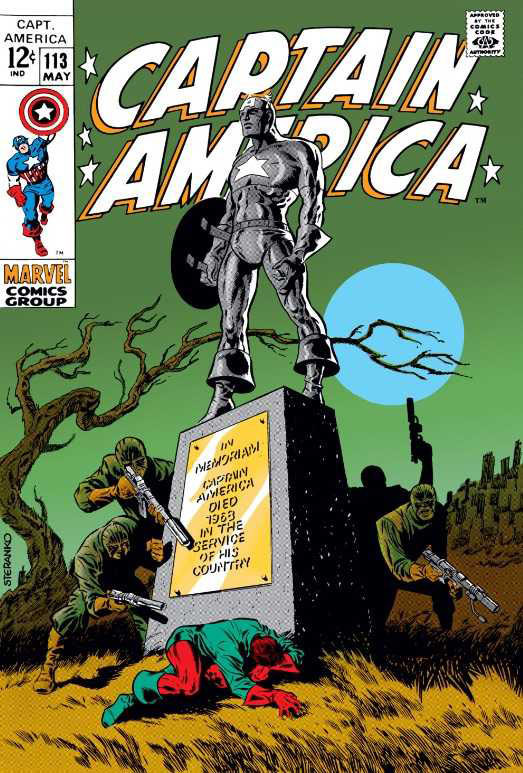 Captain America #113 (1969), art and colors by Jim Steranko