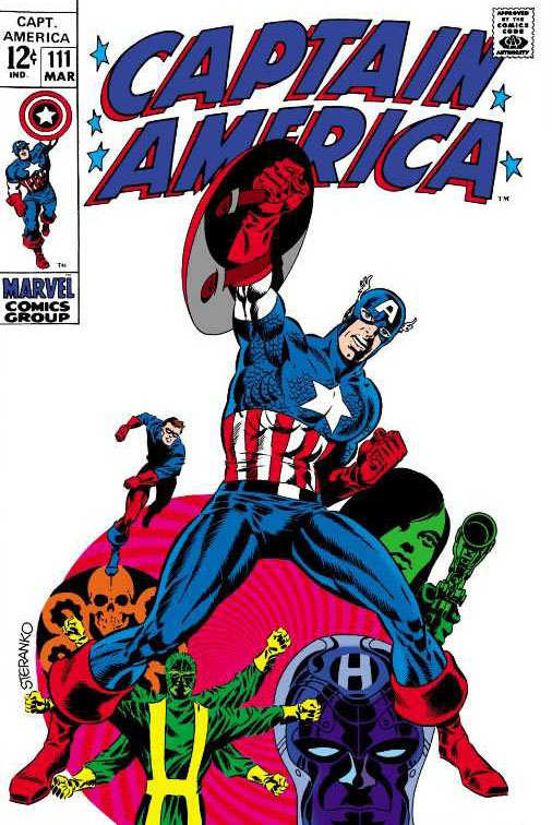 Captain America #111 (1969), art and colors by Jim Steranko