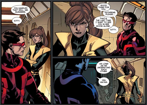 from All-New X-Men #26 (2014), script by Brian Michael Bendis, art by Stuart Immonen and Wade von Grawbadger