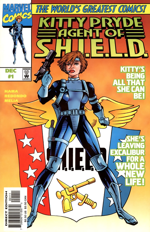 cover of Kitty Pryde, Agent of S.H.I.E.L.D. #1 (1997), art by Jesus Redondo and Sergio Melia