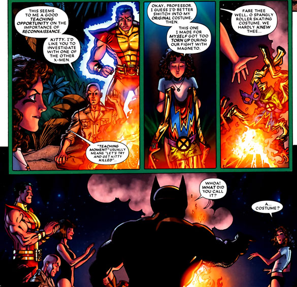 from Wolverine: First Class #12 (2009), script by Fred Van Lente, art by Scott Koblish
