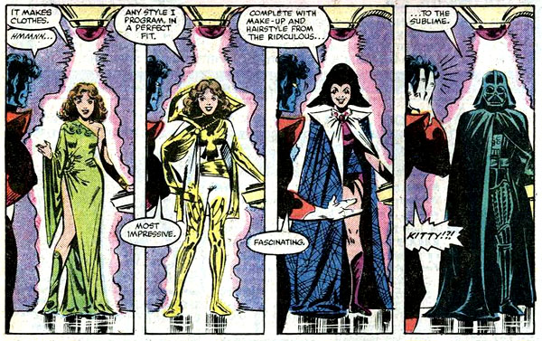 from Uncanny X-Men #155 (1982), script by Chris Claremont, art by Dave Cockrum and Bob Wiacek