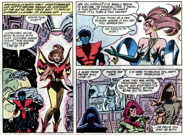 from Uncanny X-Men #156 (1982), script by Chris Claremont, art by Dave Cockrum and Bob Wiacek