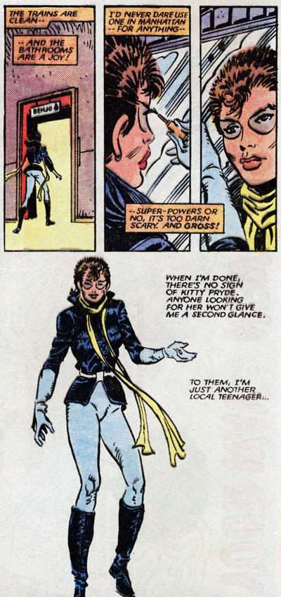 from Kitty Pryde and Wolverine #5 (1985), script by Chris Claremont, art by Al Milgrom