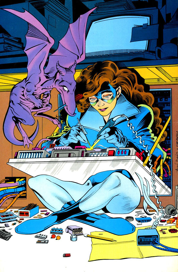 back cover pin-up from Excalibur #2 (1988), art by Alan Davis and Paul Neary