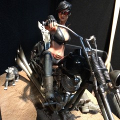EXCLUSIVE! Behind the Scenes With Motorcycle Catwoman!