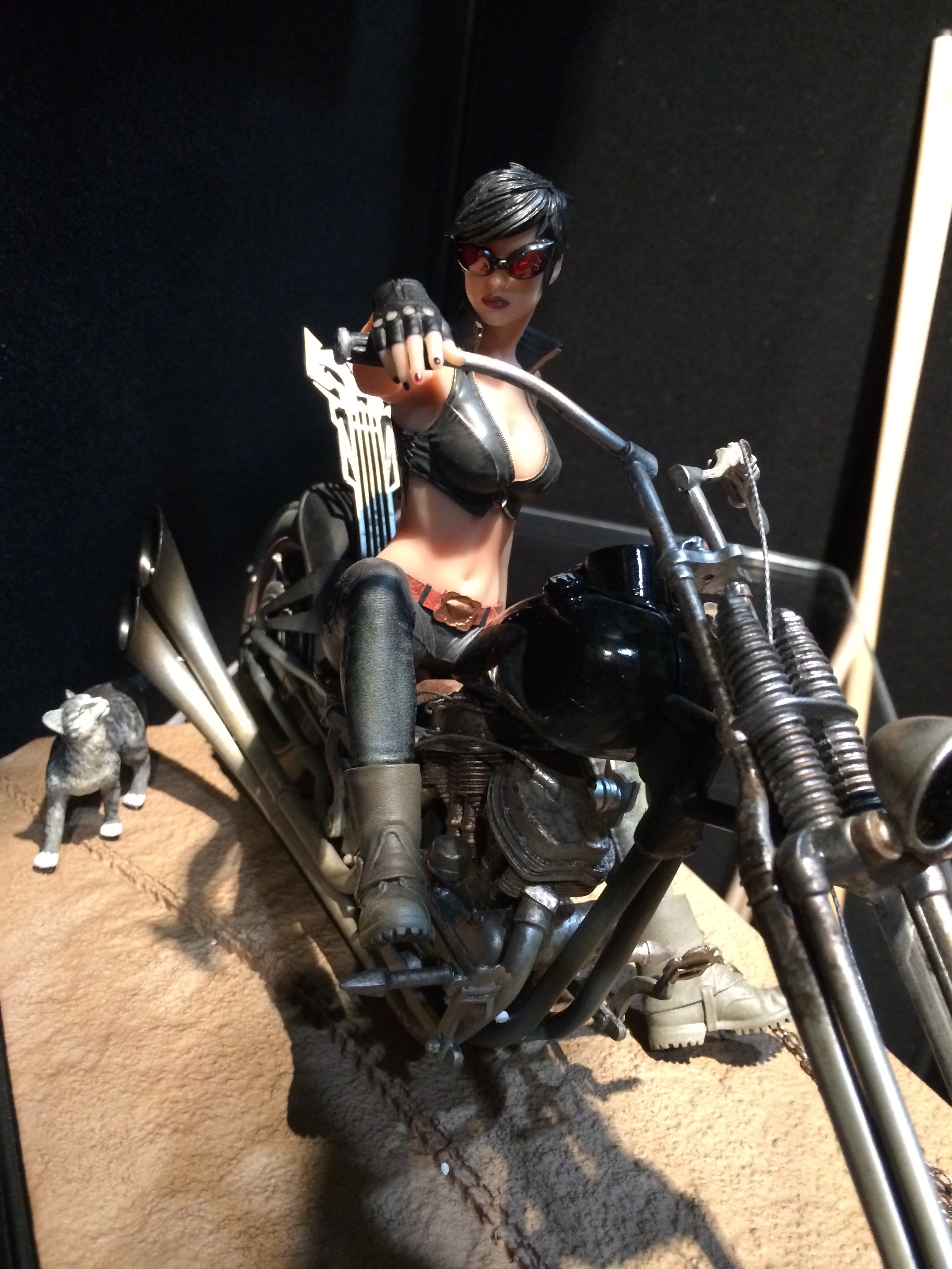 Exclusive Behind The Scenes With Motorcycle Catwoman