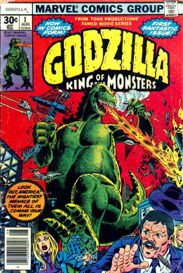Godzilla #1 (1977), script by Doug Moench, art by Herb Trimpe