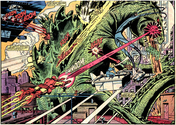Two-page spread from Godzilla #24 (1979)
