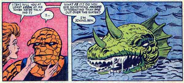 from The Thing #31 (1986), script by Mike Carlin, art by Ron Wilson and Kim DeMulder