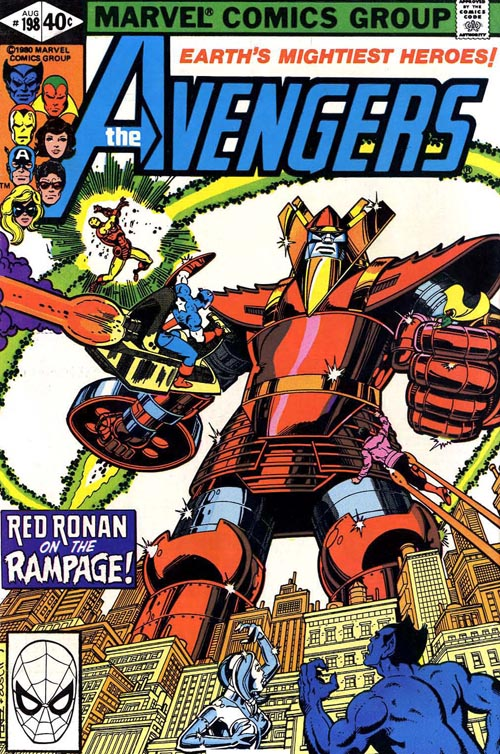 Cover of The Avengers #198 (1980), art by George Perez and Terry Austin