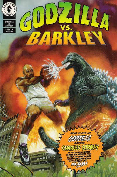 Cover of Godzilla vs. Charles Barkley (1993), art by Dave Dorman