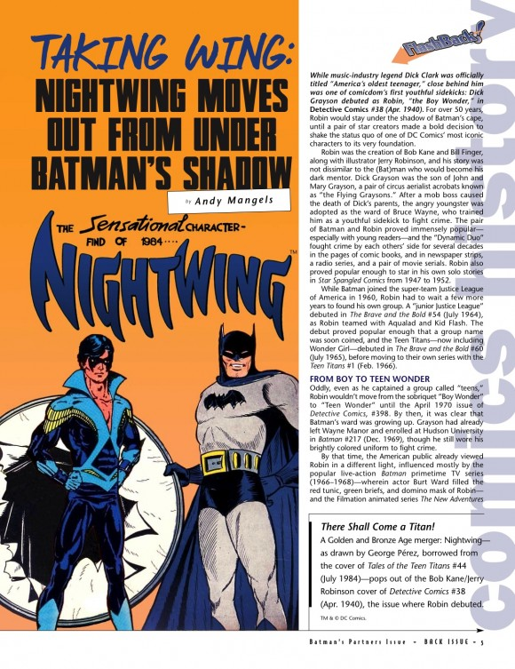 BI #73 Nightwing intro