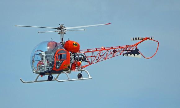 N3079g Batcopter Capt. Eugene A. Nock A.T.P. In Flight