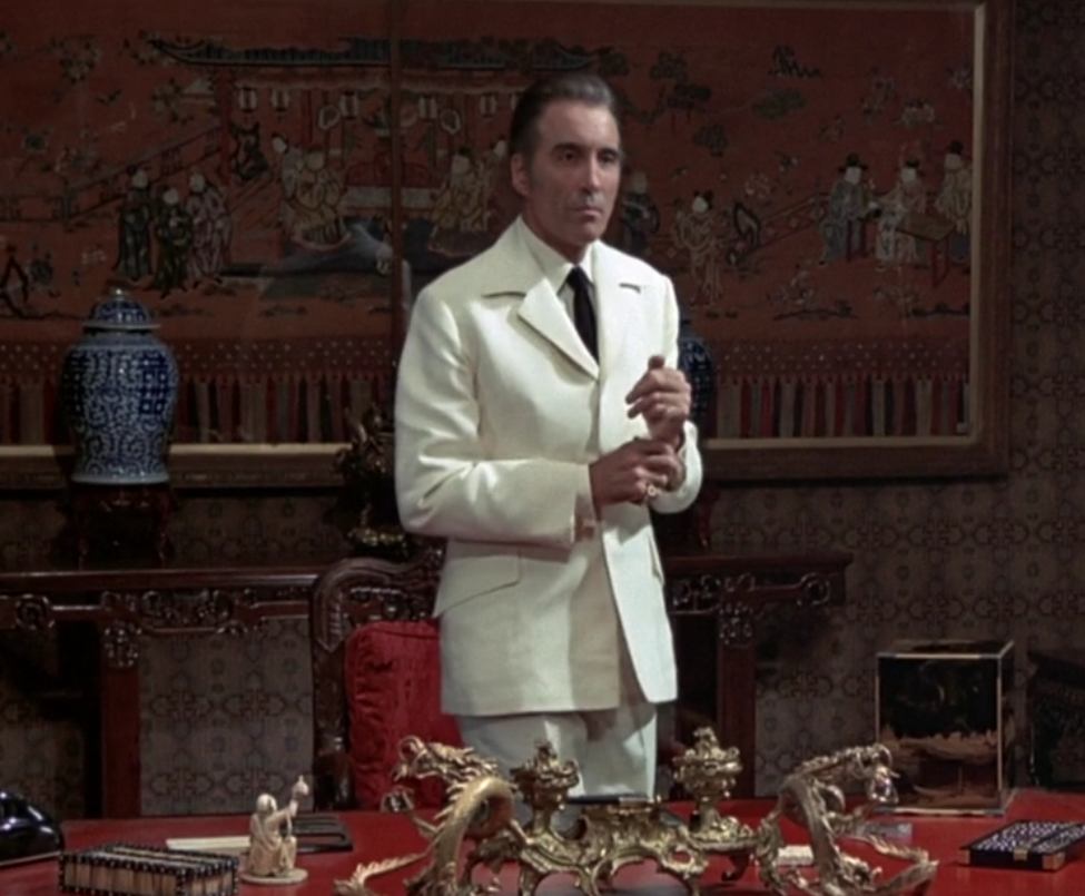 "Christopher Lee as Scaramanga in ""The Man With the Golden Gun."" To this day, I still think he would have made a GREAT Ra's al Ghul."
