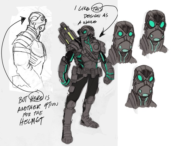 EXCLUSIVE Steve Ellis design sketches for Secret Files of Project Black Sky.