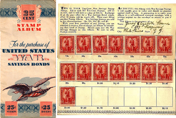 WWII war stamps booklet