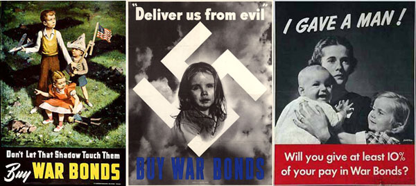 WWII war bonds posters