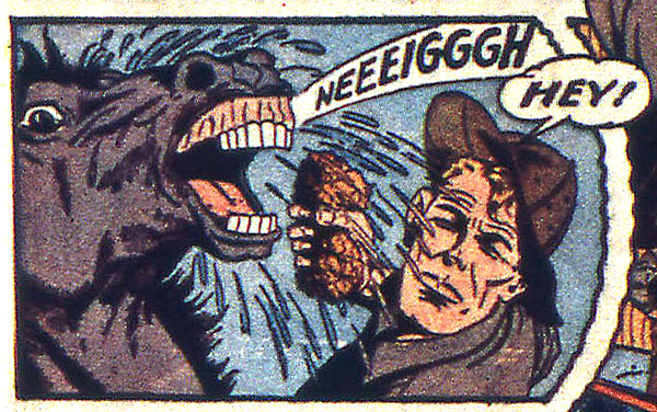 from Captain America Comics #19 (1942), script by Stan Lee, art by Al Avison