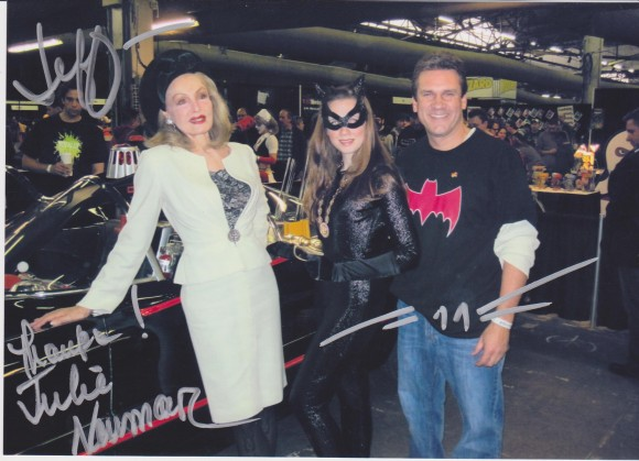 Julie Newmar and friend -- with Jeff!